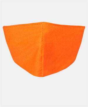 Kids 3 Pack 2 Ply Cotton Masks - Orange