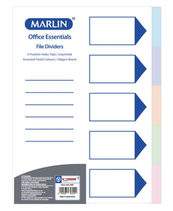 Marlin 5 Position File Dividers - Multi
