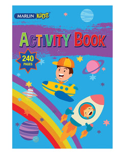 Marlin 240 Pages Activity Book - Multi