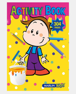 Marlin 304 Pages Activity Book - Yellow