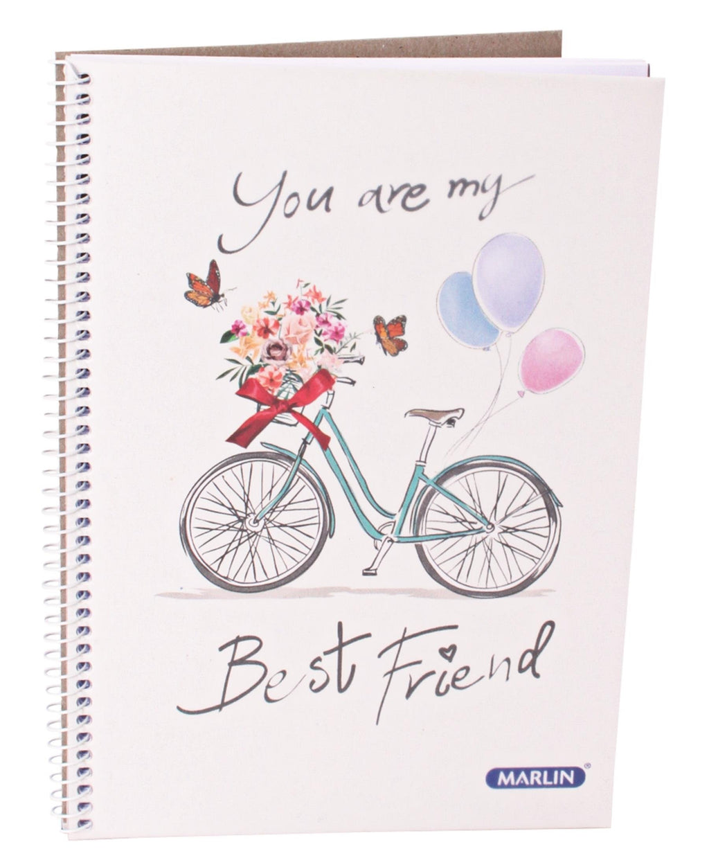 Marlin A5 Spiral Notebook - White