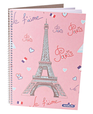 Marlin A5 Spiral Notebook - Pink