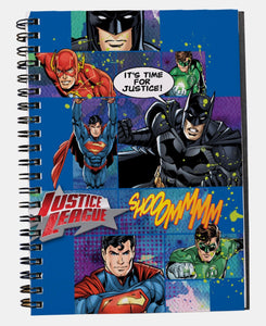Justice League A5 Side Spiral Short Hand Pad - Blue