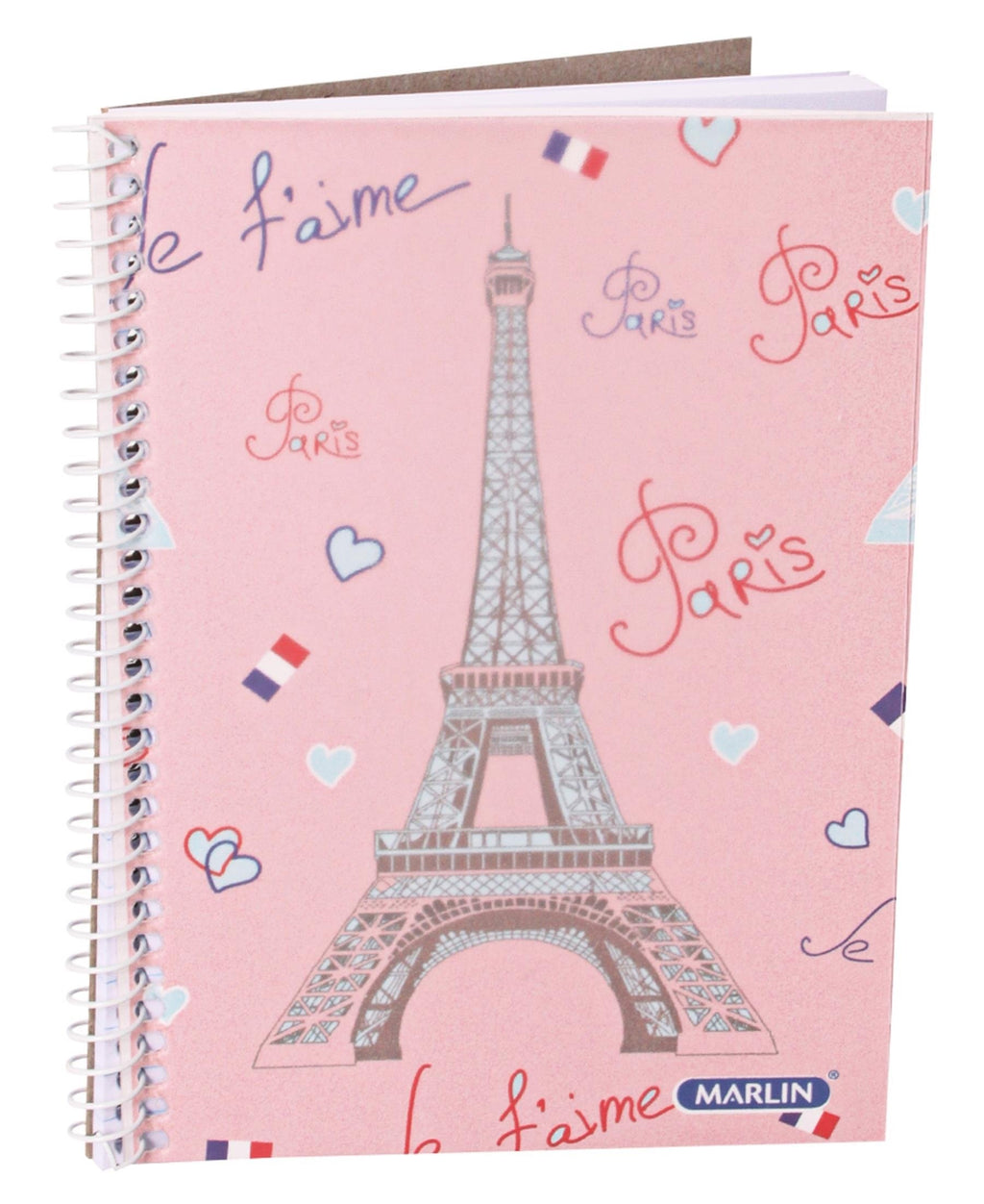 Marlin A6 Spiral Notebook - Pink