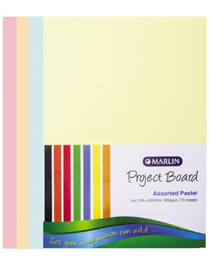 Marlin 10 Pack A4 Project Boards  - Multi
