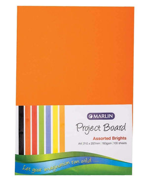 Marlin 100 Pack A4 Project Boards - Multi