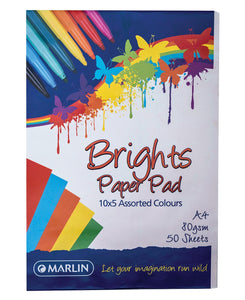Marlin 50 Pack A4 Paper Pad - Multi