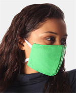 Teens 3 Pack 2 Ply Cotton Masks - Green
