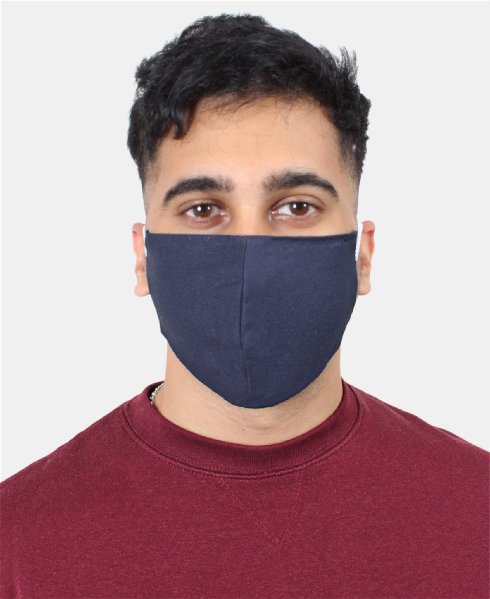 Teens 3 Pack 2 Ply Cotton Masks - Navy