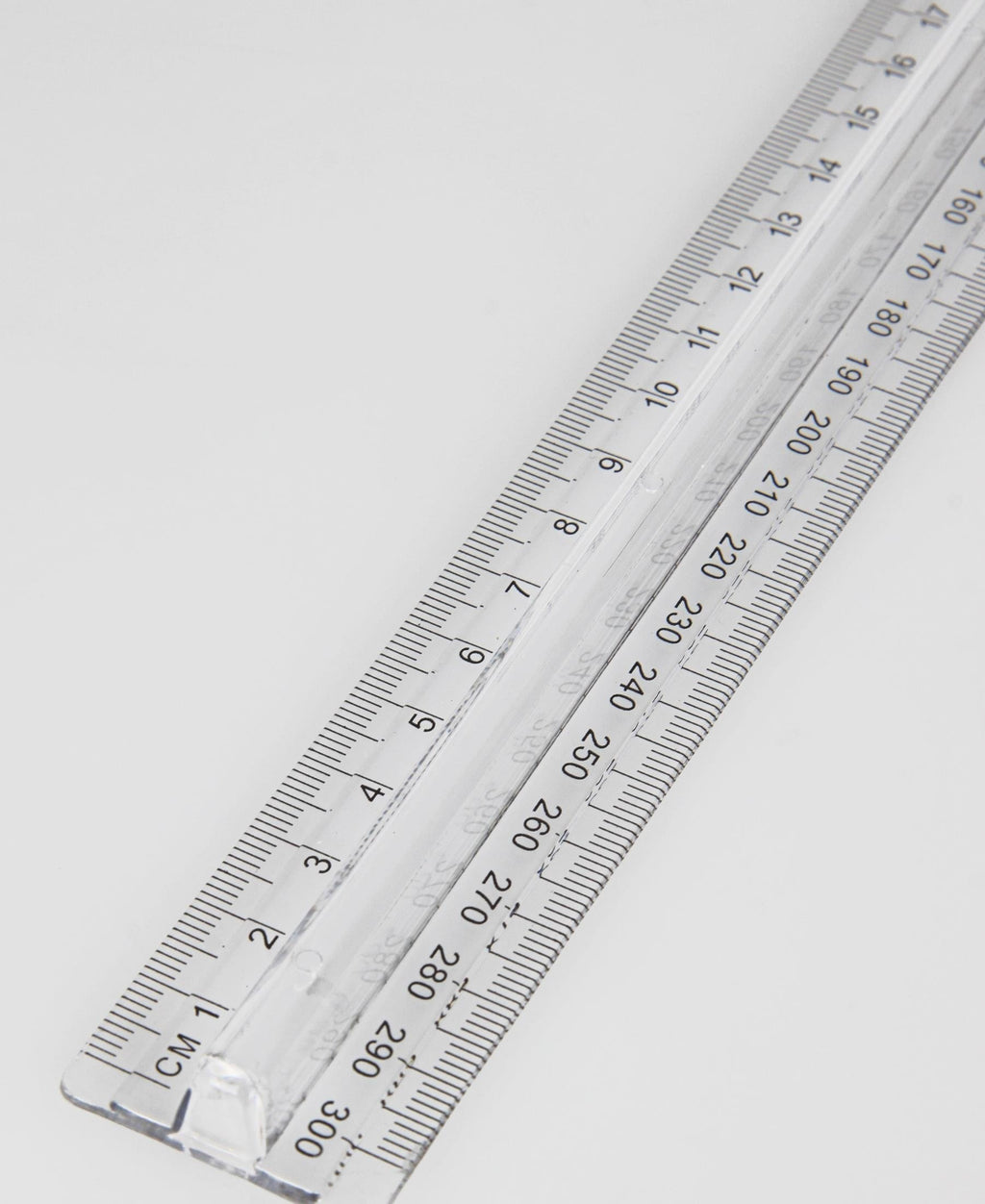Marlin Finger Grip Ruler - Clear