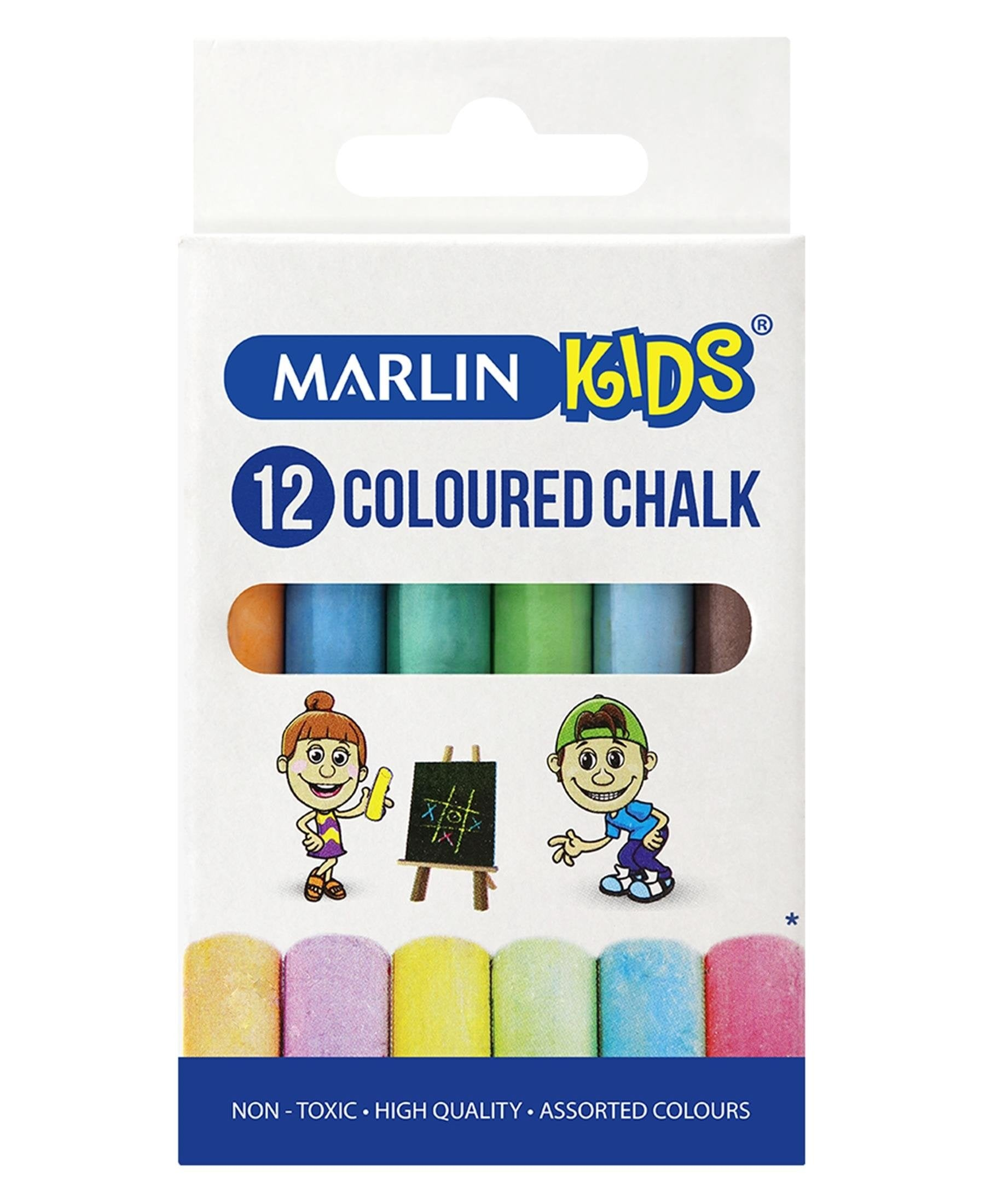 Marlin 12 Pack Coloured Chalk - Multi