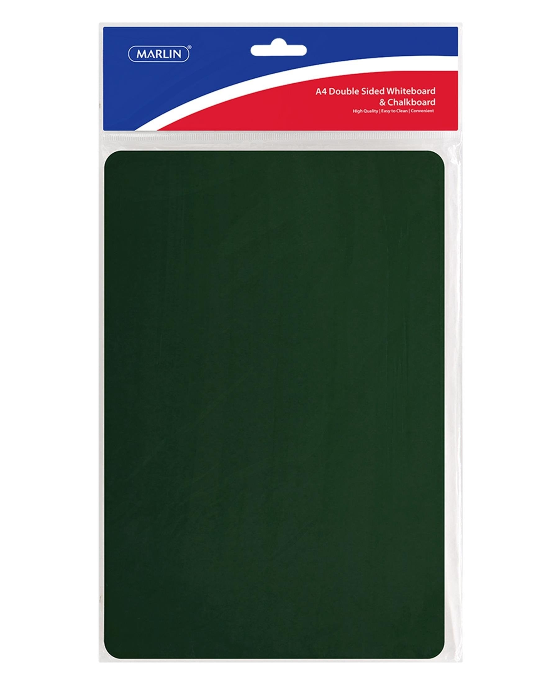 Marlin A4 Double Sided Whiteboard And Chalkboard - Green