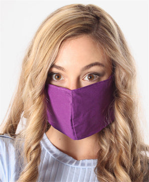 3 Pack Cotton Masks - Purple
