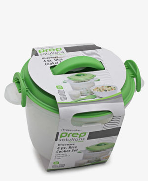 Progressive 4 Piece Microwave Rice Cooker - Green