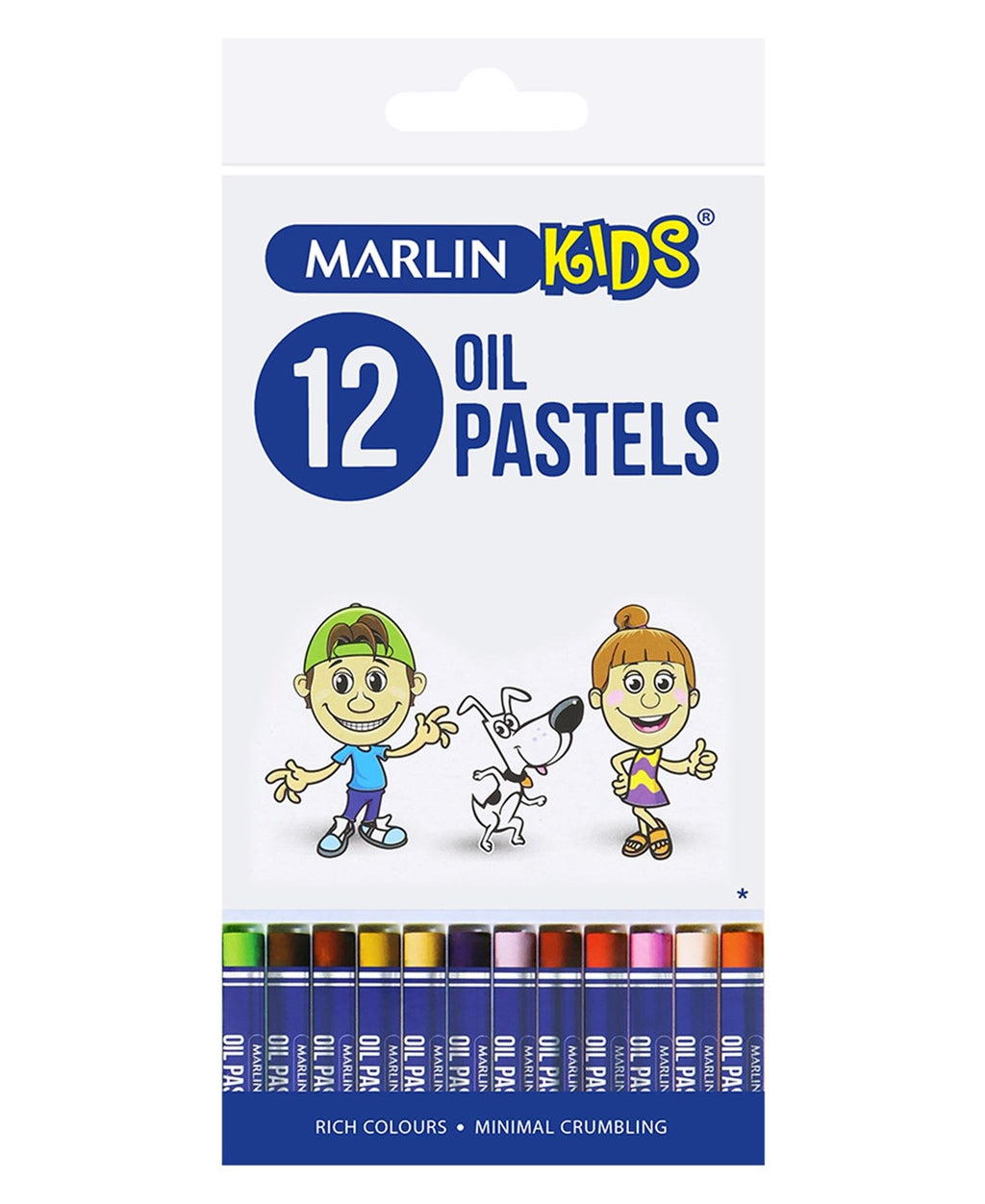 Marlin 12 Pack Oil Pastels - Multi
