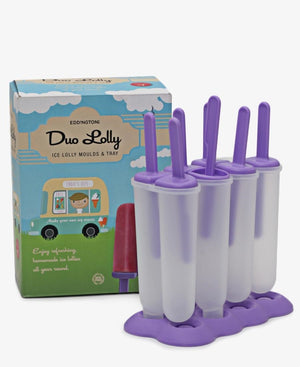 Eddingtons 6 Ice Lolly Moulds - Purple