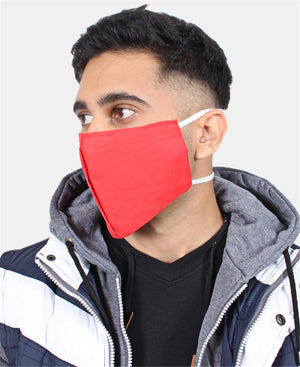 3 Pack Cotton Masks - Red
