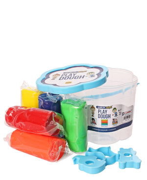 Marlin 5 Assorted Colours Play Dough Bucket - Blue