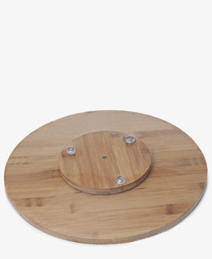 Bamboo Revolving Cheese Board - Beige
