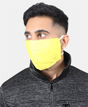 3 Pack Cotton Masks - Yellow