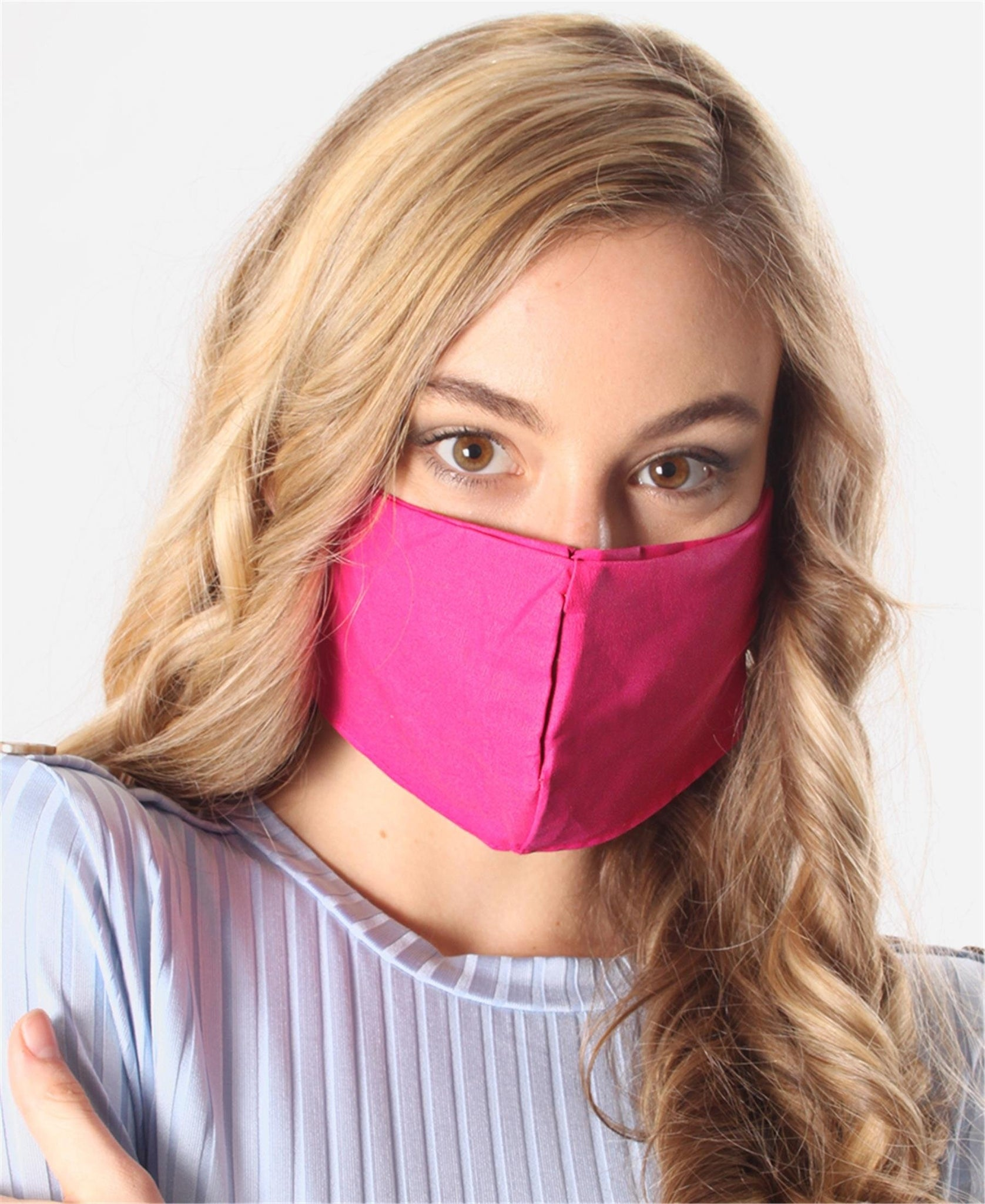 3 Pack Cotton Masks - Pink