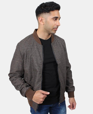 Men's Bomber Jacket - Brown