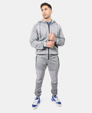 Men's Hoody Track Jacket - Grey