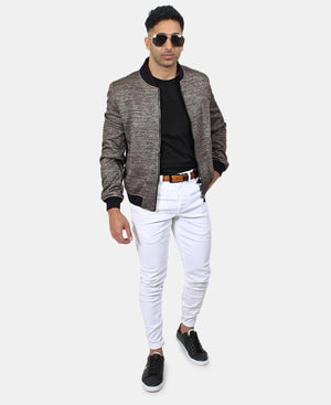 Men's Bomber Jacket - Choc