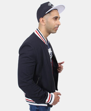 Men's Bomber Jacket - Navy