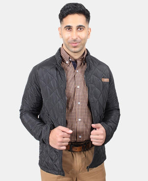 Men's Quilted Jacket - Black