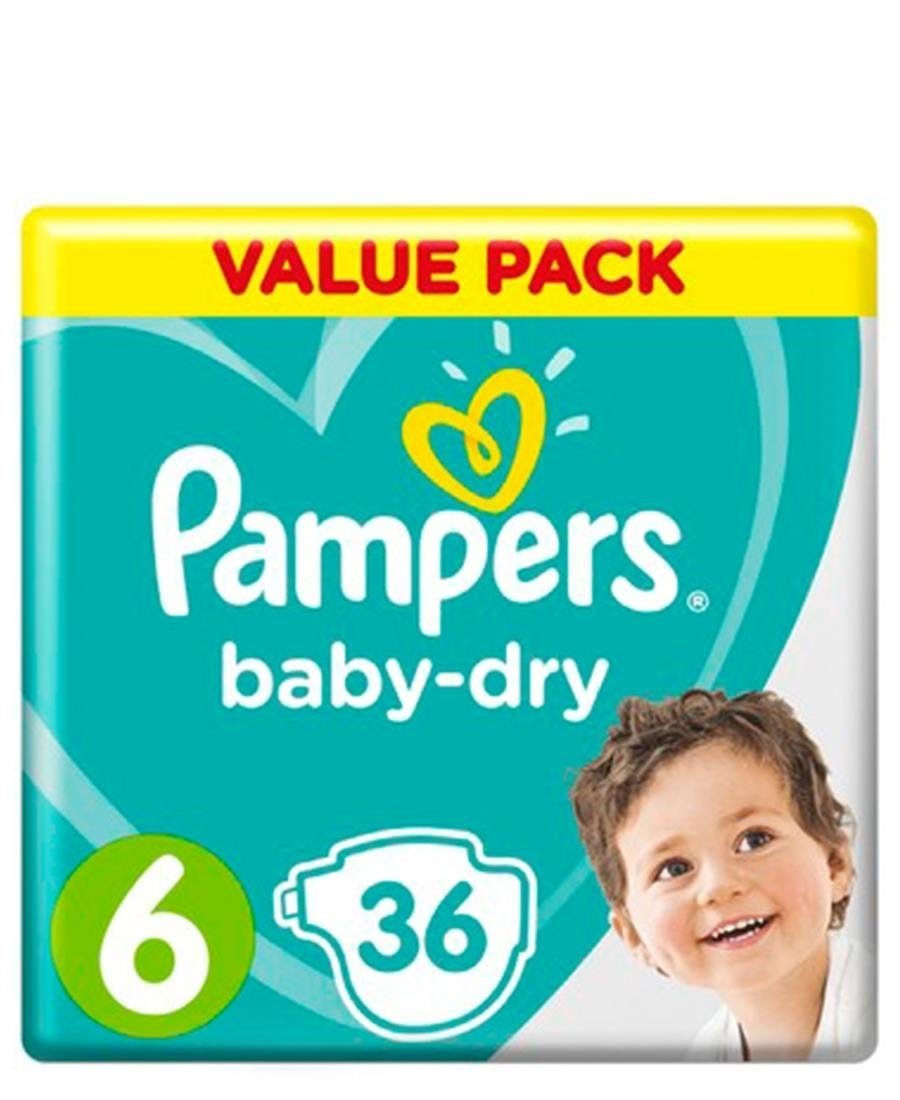 Pampers Active 36 XL Size 6 Value Pack - White