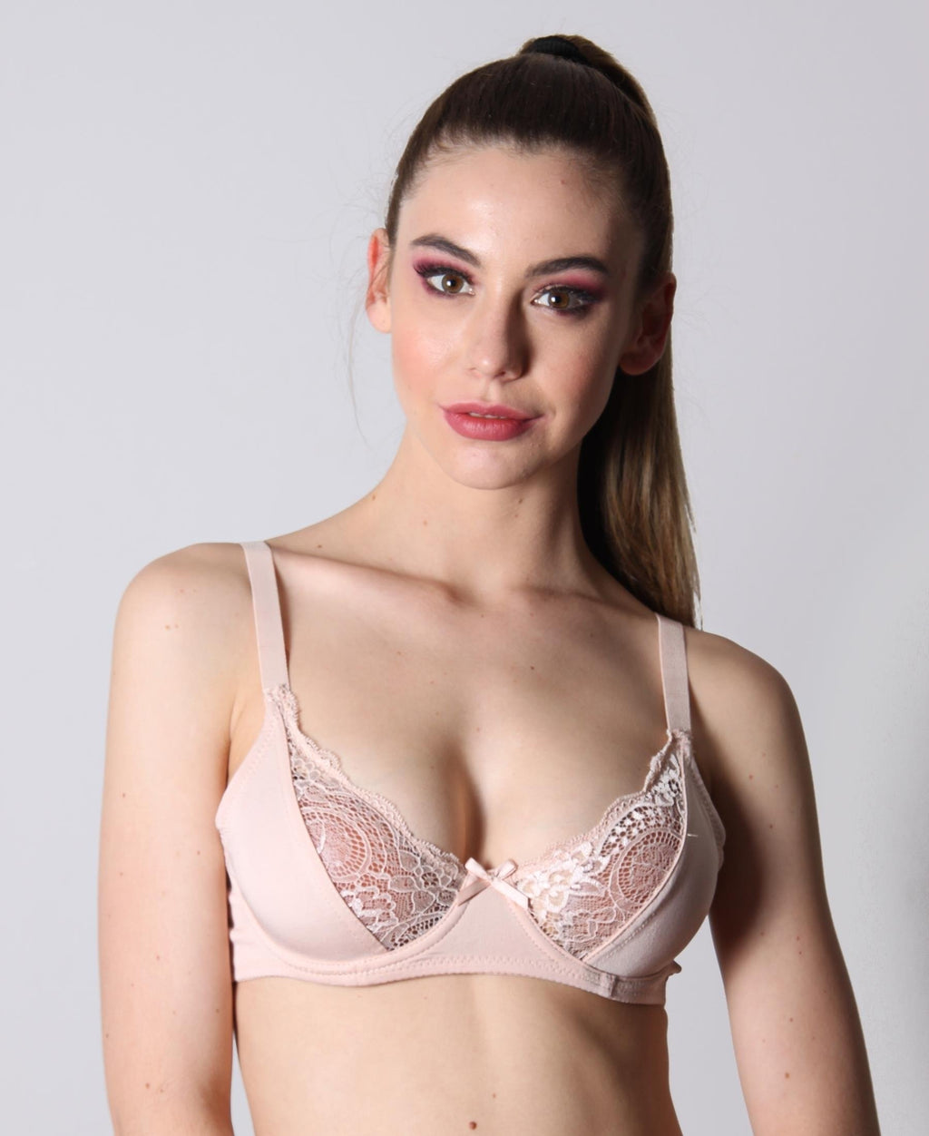 2 Pack Lace Bra - Nude