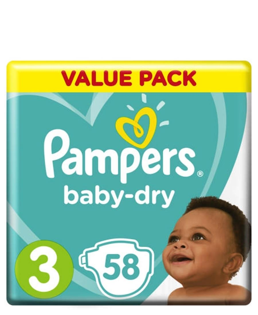Pampers VP Active 58s  Size 3 - White
