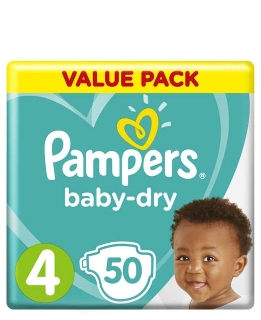Pampers Active 50 Maxi Size 4 Value Pack - White