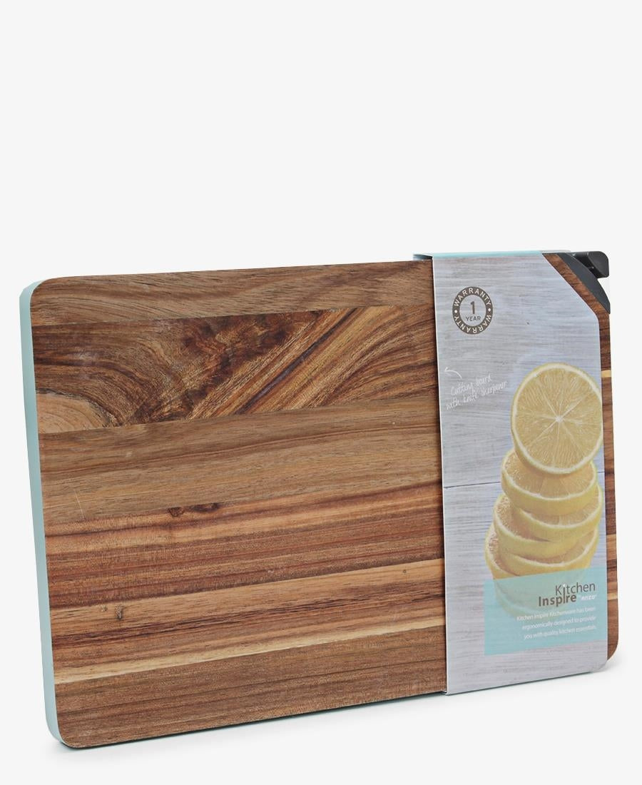 Kitchen Inspire Cutting Board With Sharpener - Taupe