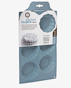 Kitchen Inspire Silicone 6 Hole Flower Mould - Blue