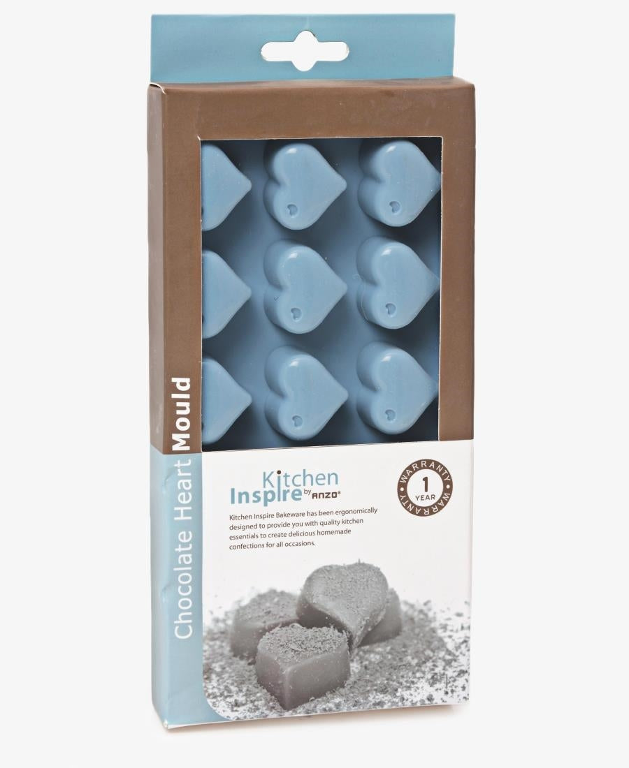 Kitchen Inspire Silicone Chocolate Heart Mould - Blue