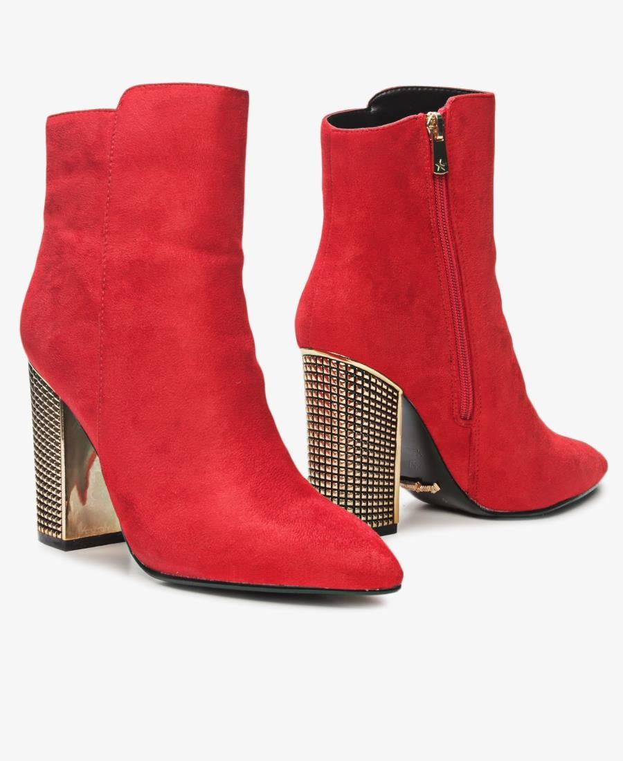 Pointed Boots - Red