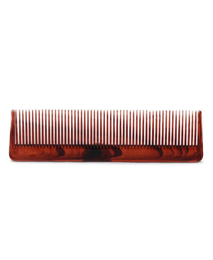 Straight Tortoise Shell Comb - Brown