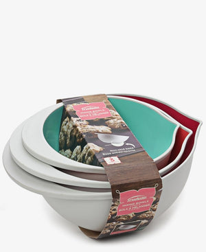 Trudeau 3 Piece Mixing Bowls - Cream