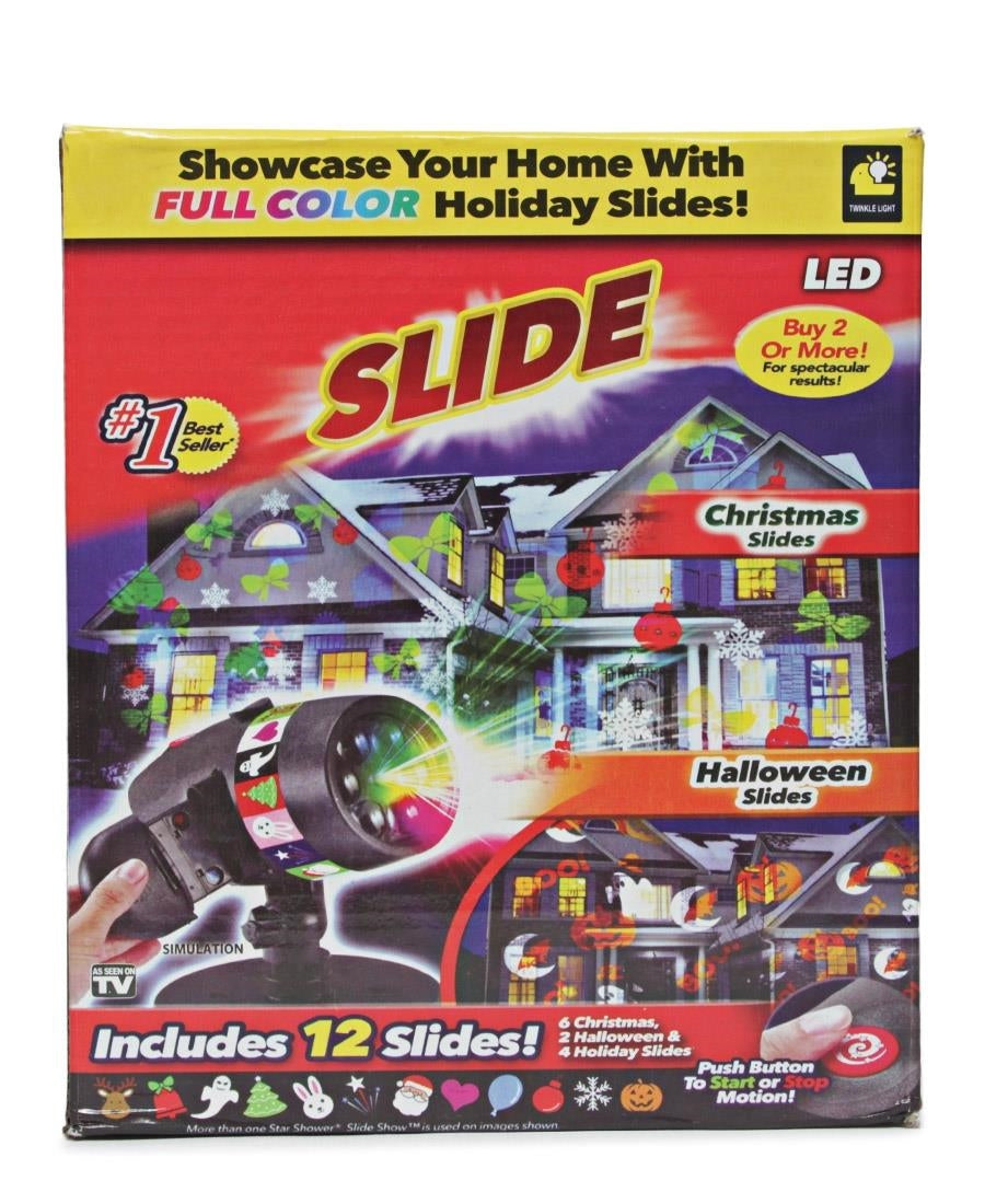 12 Holiday Season LED Strobe  - Black