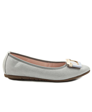 Leather Pumps - Grey