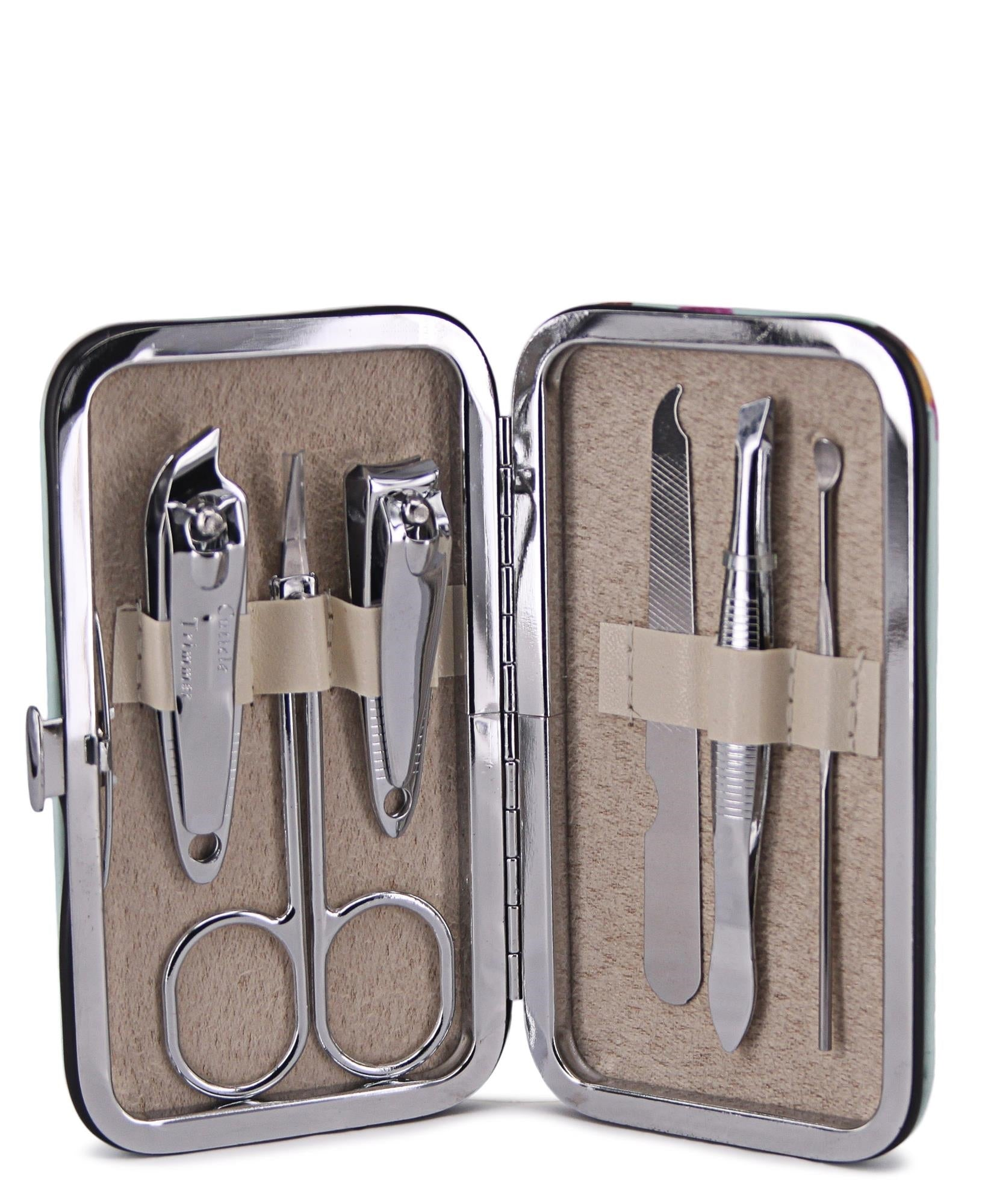 Manicure Set In Pouch - Red