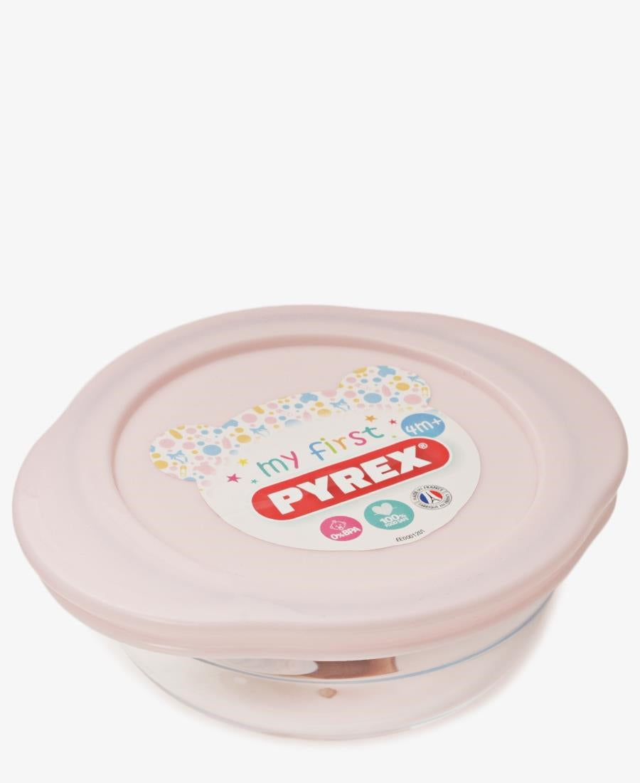 Pyrex 350Ml Round Dish With Lid - Light Pink
