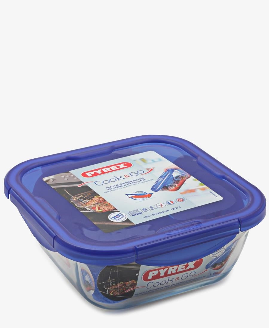 Pyrex Cook&Go Small Square Roaster - Blue