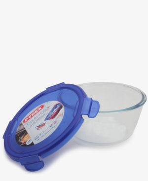 Pyrex 1.6Lt Cook&Go Round Bowl With Lid - Blue