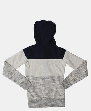 Girls Hoody - Navy-Grey
