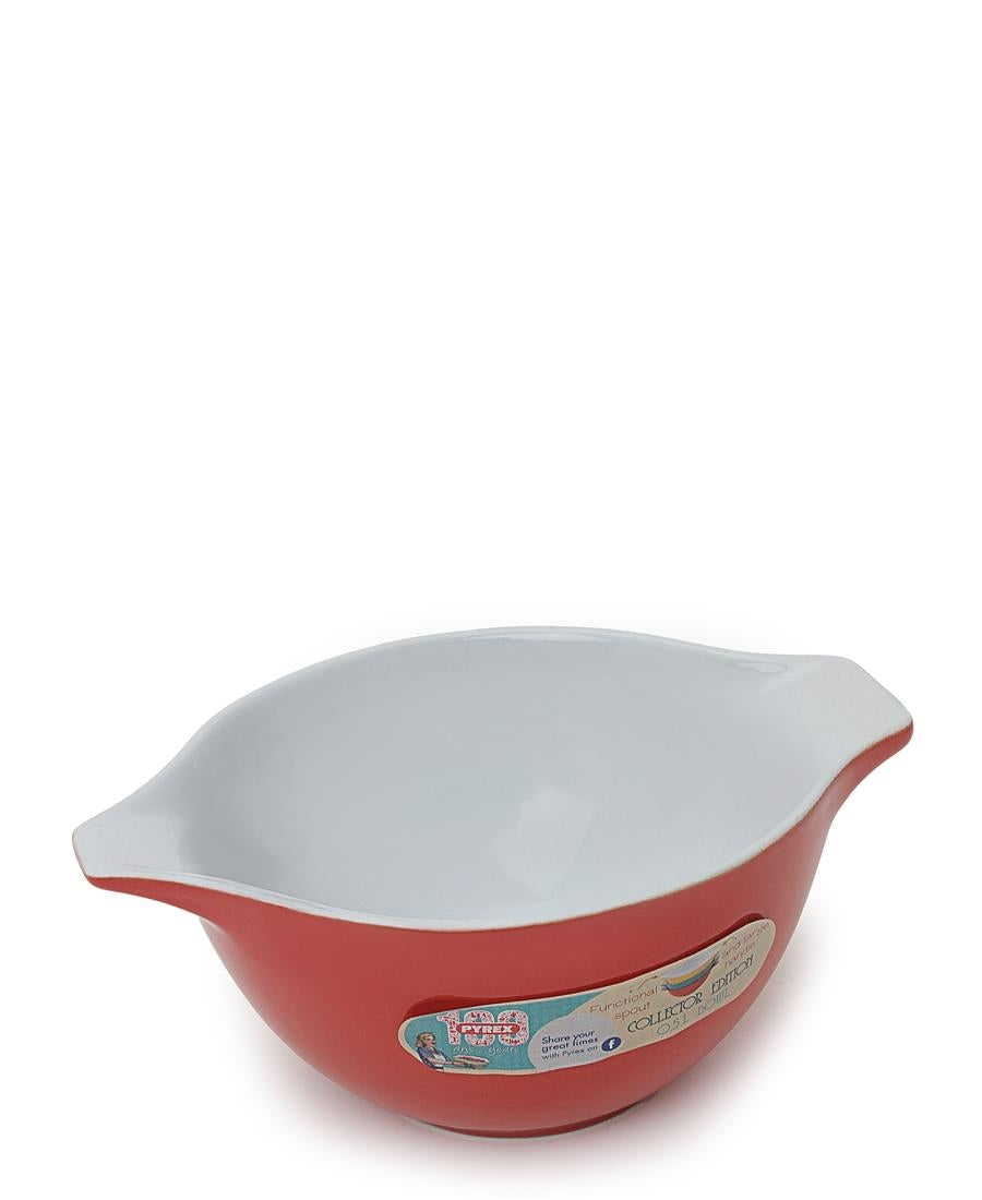 Spouted Mixing Bowl - Red