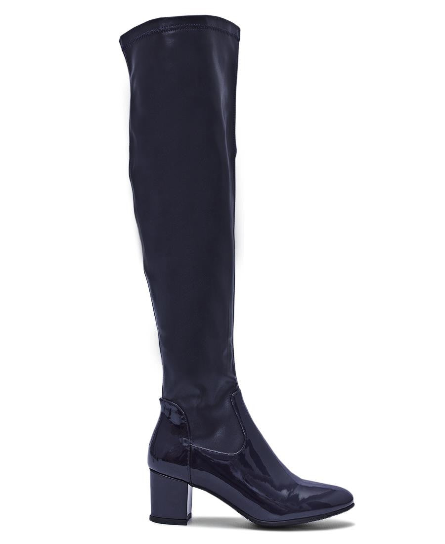 Knee High Boots - Navy