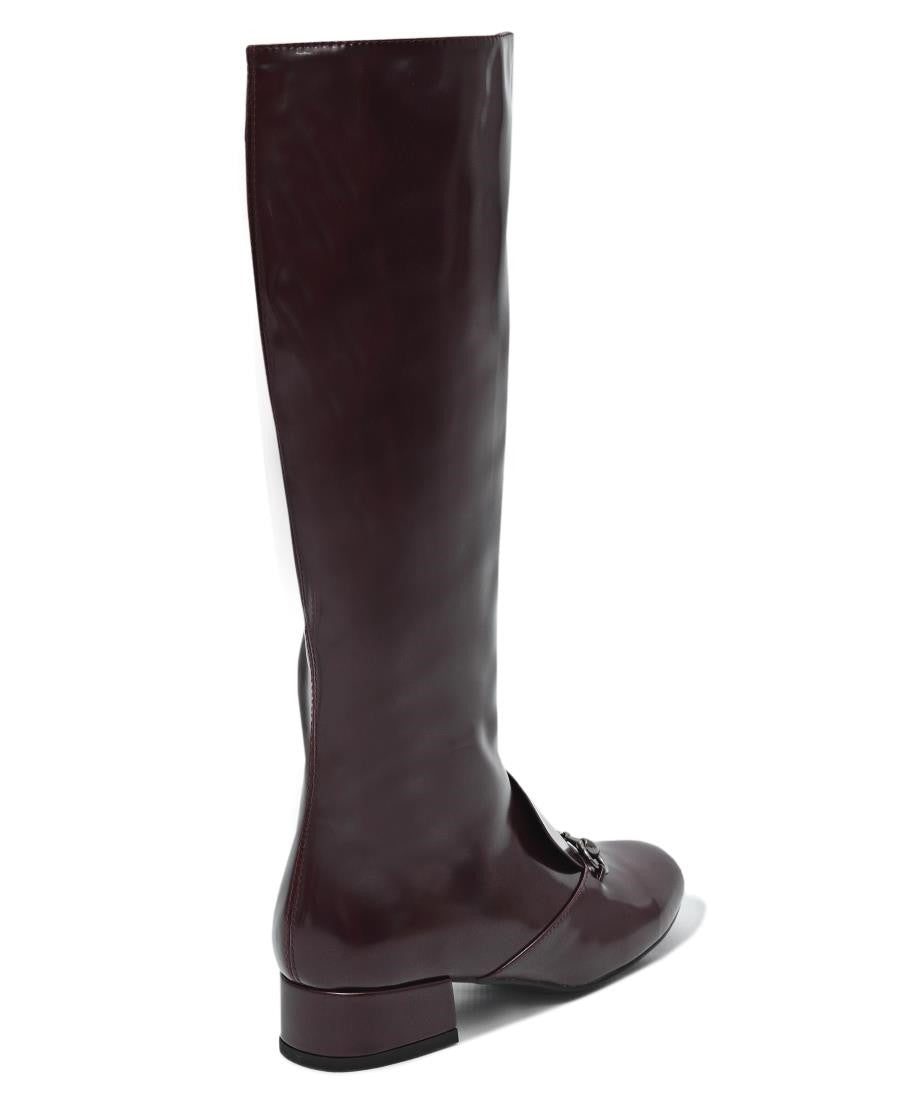 Knee High Boots  - Maroon